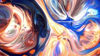 Abstract Beauty of Art Ink Paint Explode Colorful Fantasy Spread