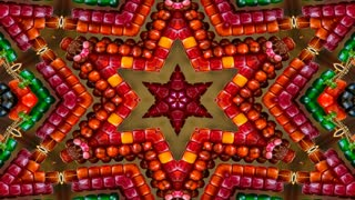 Abstract Colorful Hypnotic Symmetric Pattern Ornamental Decorative Kaleidoscope Movement Geometric Circle And Star Shapes 11