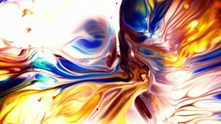 Abstract Colorful Paint Ink Liquid Explode Diffusion Psychedelic Blast