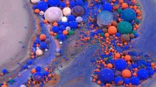 Abstract Ink Drops Bubbles Explode Splash Diffusion