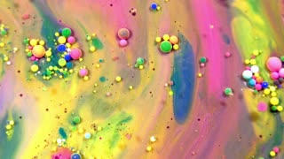 Abstract Ink Drops Bubbles Explode Splash Diffusion