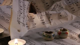 Music Notes Sheets are Burning Fire
