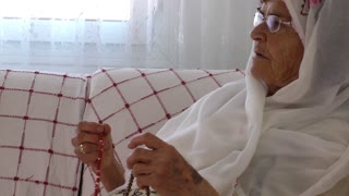 Old Woman Prays With Rosary 4 Mov