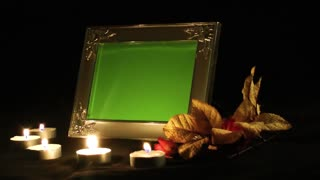 Photo Frame and Candle Light