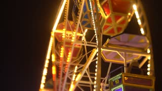 Ferris wheel at night 4k video