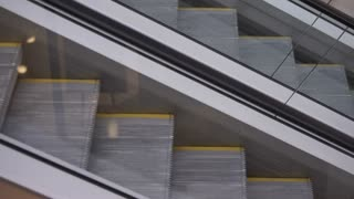 Movement up and down the escalator. 4k Video 3840x2160