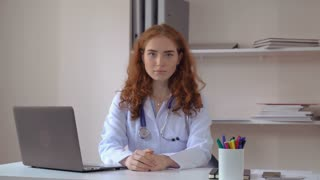Redhead doctor white