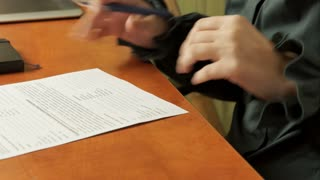 Woman signs a contract. Signature.  4k Video 3840x2160