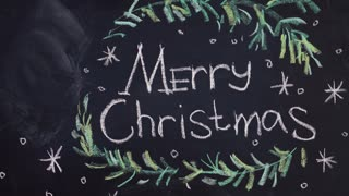 chalkboard background for Merry Christmas celebration