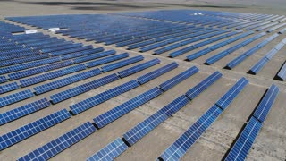 Aerial View of Solar Panel 4k slow motion aerial shot