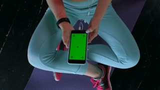 Female fitness exercise. Top view 20s 4k