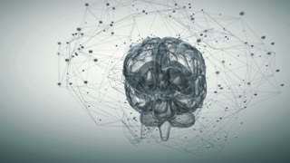 Animation illustrating the thought processes in the brain