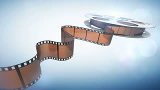 Cinema film reel.Seamlessly loopable motion background.