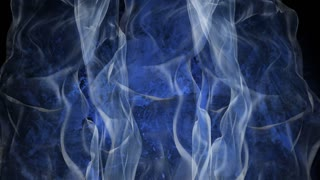 Dancing smoke on the grunge background