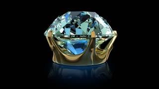 Diamond. Seamlessly loopable animation.