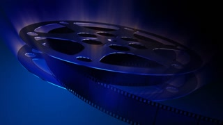 Film reel.Dark blue