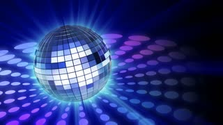 mirrorball with shine and motion background