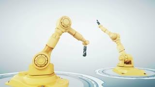 Robotic arm with metallic globe