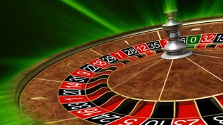 Roulette wheel. 3D animation