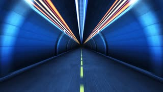 Tunnel  in motion.Seamlessly loopable animation