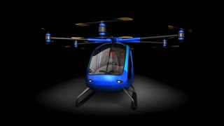 Electric Passenger Drone. This is a 3D model and doesn't exist in real life