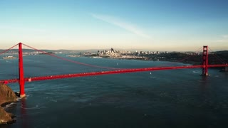 Aerial view of Golden Gate Bridge and San Francisco skyline 8