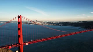 Aerial view of Golden Gate Bridge and San Francisco skyline 9