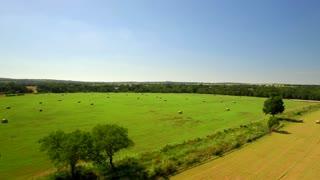 Aerial view of San Antonio farmland on a sunny day 4