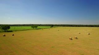 Aerial view of San Antonio farmland on a sunny day