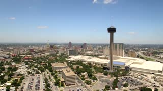 Aerial view of San Antonio skyline 2