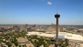 Aerial view of San Antonio skyline