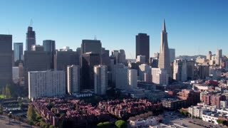 Aerial view of San Francisco cityscape 2