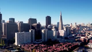 Aerial view of San Francisco cityscape