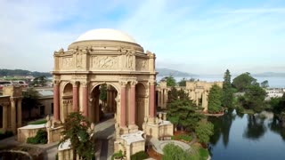 Aerial view of San Francisco Palace of Fine Arts Theatre 10