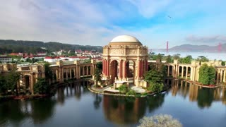 Aerial view of San Francisco Palace of Fine Arts Theatre 2