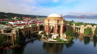 Aerial view of San Francisco Palace of Fine Arts Theatre 3