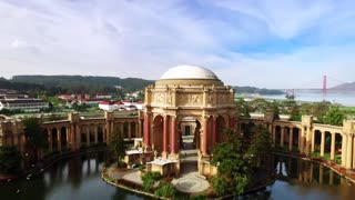 Aerial view of San Francisco Palace of Fine Arts Theatre