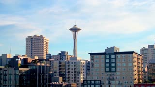 Aerial view of Seattle space needle 4