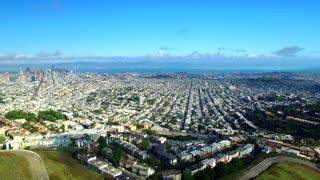 Aerial view of Twin Peaks San Francisco 3