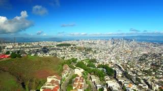 Aerial view of Twin Peaks San Francisco 7