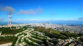 Aerial view of Twin Peaks San Francisco