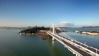 Aerial view over Oakland Bay Bridge facing San Francisco 2