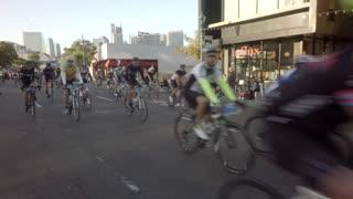 Beginning of bike race in San Diego