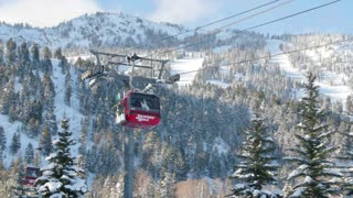 Close up of Jackson Hole ski lift