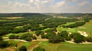 Drone view of San Antonio golf course under blue sky 3