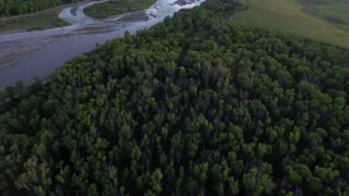 Gorgeous drone view of mountains and forest by river 7