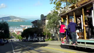 San Francisco trolley rides through the city