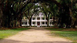 Baton Rouge Plantation House with Long Driveway
