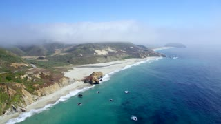 Beach and Highway in Big Sur