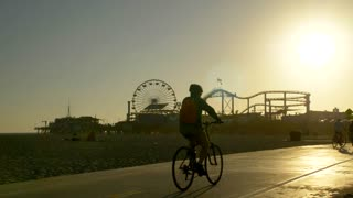 Bike Path in front of the Santa Monica Pier